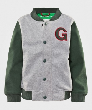 Geggamoja Baseball Fleecejacket grey/green