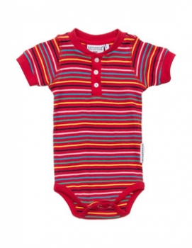 Geggamoja shortsleeved Body multistriped red