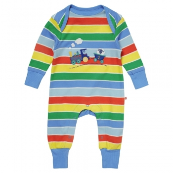 Piccalilly Train applique Playsuit